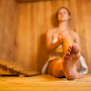 Wellness in der Sauna