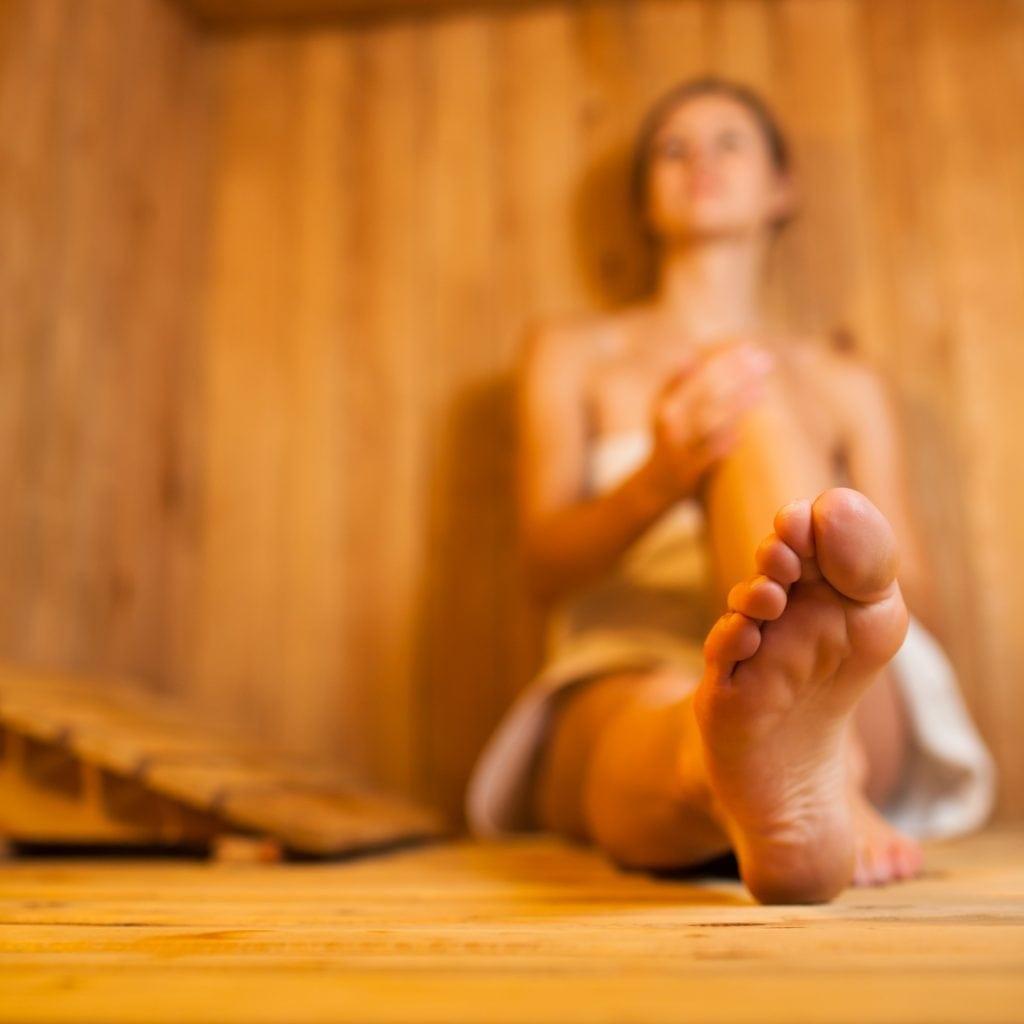 Wellness in der Sauna