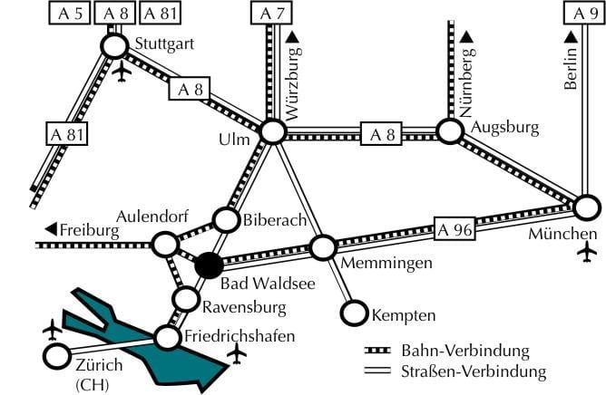Anreise nach Bad Waldsee