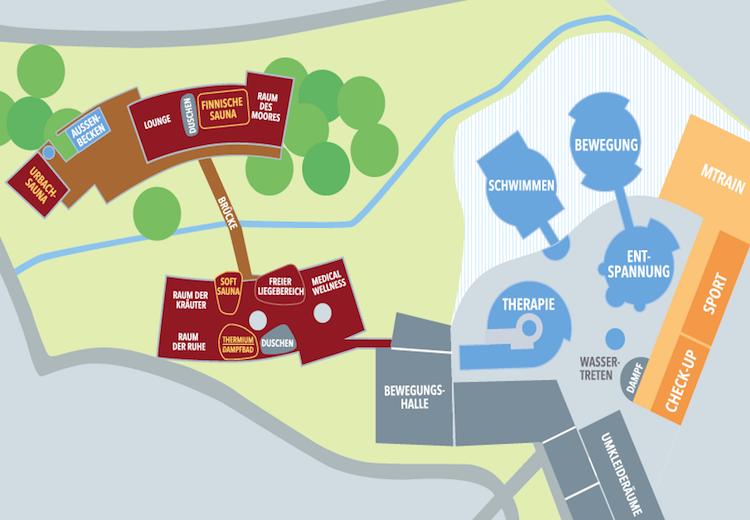 Lageplan Waldsee-Therme