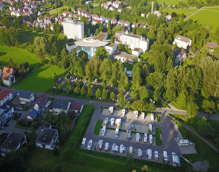 Wohnmobilstellplatz an der Waldsee-Therme